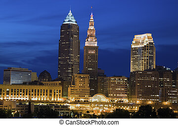 Cleveland, Ohio - seen late evening