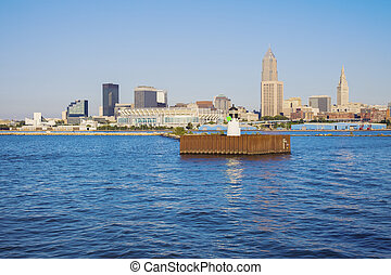 Cleveland - skyline seen from Lake Erie