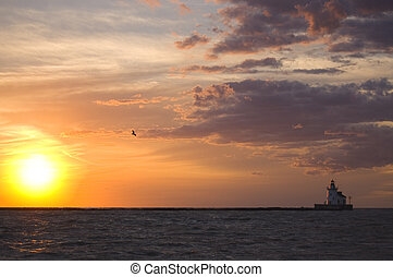 Cleveland Sunset - Sunset over Lake Erie as seen from the...