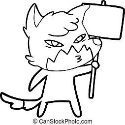 clever cartoon fox