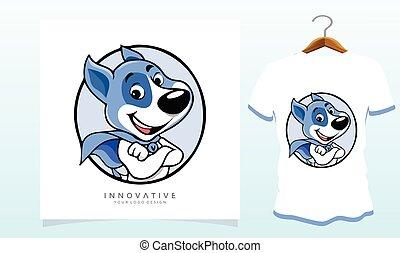 Clever dog t-shirt, Dog T Shirt Images, Stock Photos & Vectors