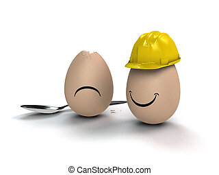 clever eggs think preventively - funny metaphorical easter ...