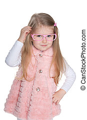 Clever fashion little girl