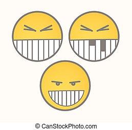 Clever Smile - Cartoon Smiley Set