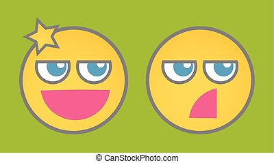 Cleverness Cartoon Smiley Vector