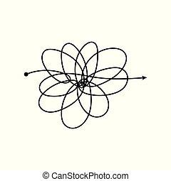 clew, ilustración, aislado, vector, complicado, white.,...