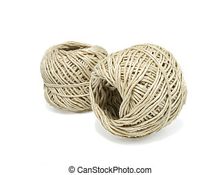 clew of rope on a white background