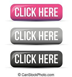 clic, botón, aquí, conjunto