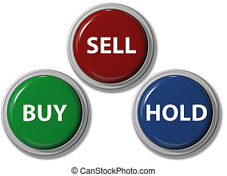 Click BUY SELL HOLD financial buttons - Click on BUY SELL ...