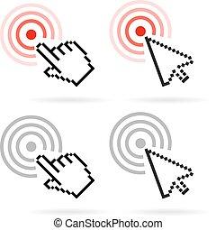 Click cursor vector icon