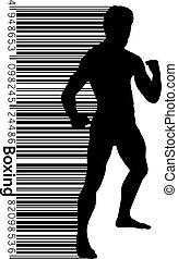 click., essere, pugilato, separato, colorare, testo, changed, illustrazione, silhouette., vettore, lattina, fondo, uno, boxing., strato