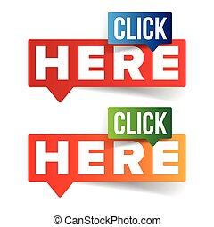 Click Here button speech bubble