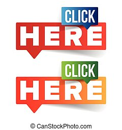 Click Here button speech bubble