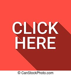 Click Here Button Web Icon