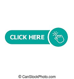 Click here button with hand pointer clicking