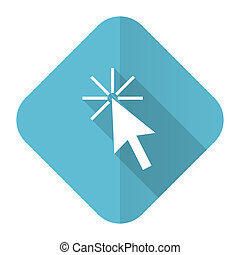 click here flat icon