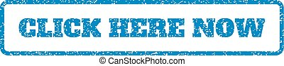 Click Here Now Rubber Stamp