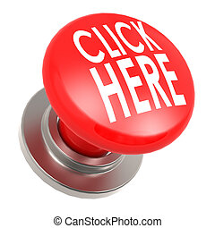 Click here red button image with hi-res rendered artwork that could be used for any graphic design.