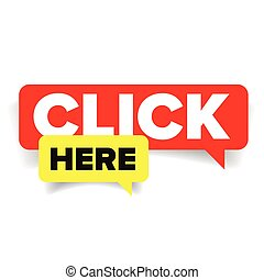Click here speech bubble
