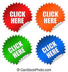 Click here sticker