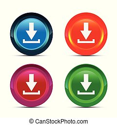 Click here vector buttons collection. Internet clicking button icons