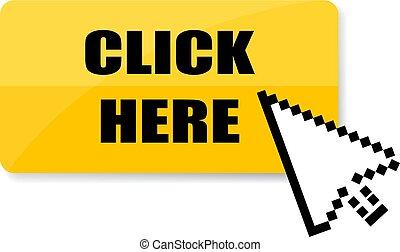 Click here vector icon