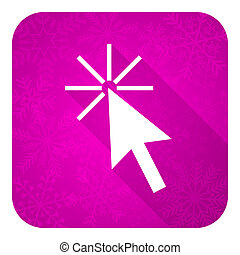 click here violet flat icon, christmas button