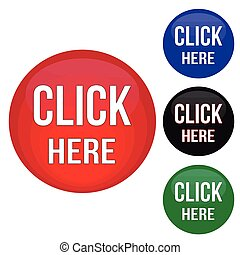 Click here website buttons set