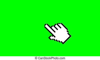 click icon animation cursor symbol icon, mouse click symbol video on green background. video footage, 4K