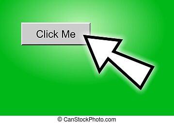 Click Me Button - Cursor clicking on a \\\\\\\'Click...