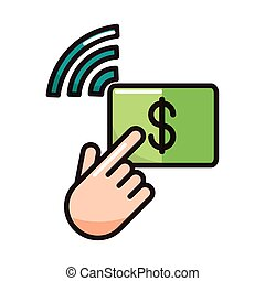 click money digital transaction shopping or payment mobile ...