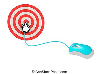 Click on target - Rendered artwork with white background