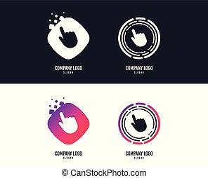 Click pointer icon. Hand cursor sign. Vector