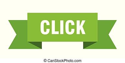 click ribbon. click isolated sign. click banner