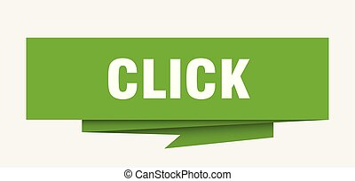 click sign. click paper origami speech bubble. click tag....