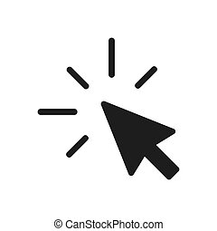 Click vector icon in modern design style for web site and mobile app