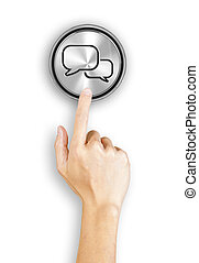 Clicking a chat button - Clicking a 3d rendered chat button,...