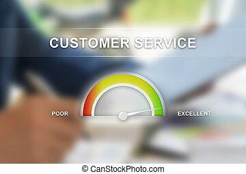 client, échelle, guage, service, excellent