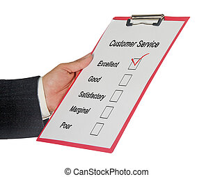 client, évaluation, service