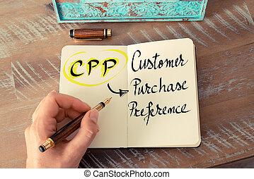 client, achat, cpp, acronyme, préférence