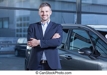 Client after transaction in dealership