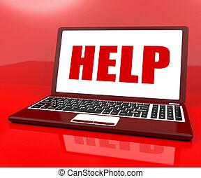 client, aide, service, ordinateur portable, ou, helpdesk, soutien, spectacles