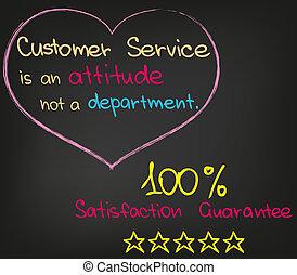client, approche, service