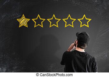client, classement, concept, réaction, service, négatif, ou