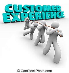 client, clients, main-d'oeuvre, expérience, satisfaction, traction, mots