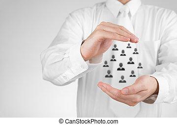 client, concept, assurance, soin