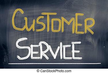 client, concept, service