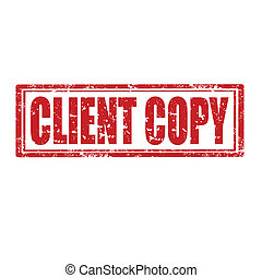 Client Copy-stamp - Grunge rubber stamp with text Client...
