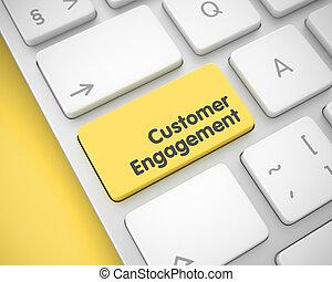 client, engagement, -, jaune, key., clavier, 3d., message