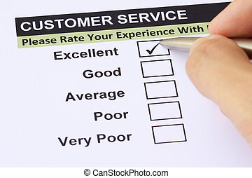 client, enquête, service